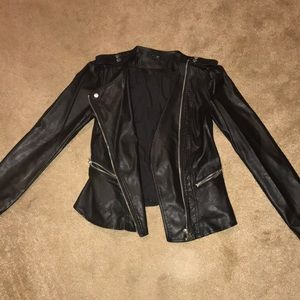 Black Leather Jacket  Perfect Condition